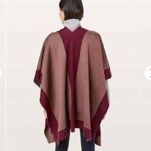 lululemon athletica Sweaters - LULULEMON Bundle Up Wrap Poncho Sweater